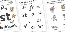 My 'st' Letter Blend Workbook