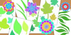 Botanical Craft Cut Out Shapes