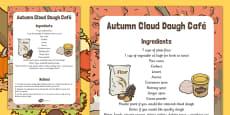 Autumn Cloud Dough Cafe Recipe