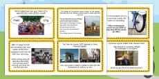 Tour de France Literacy Challenge Cards