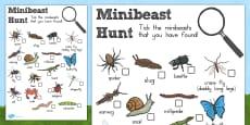 Australia - Minibeast Hunt Sheet