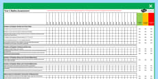 Australian Curriculum Year 4 Maths Assessment Spreadsheet