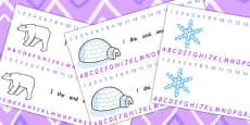 Arctic Themed Alphabet and Number Strips