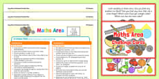 Maths Area Continuous Provision Poster and Challenge Cards Pack Nursery FS1