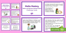 Year 5 Addition and Subtraction Multistep Problems Challenge Cards