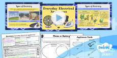 PlanIt - Science Year 4 - Electricity Lesson 2: Everyday Electrical Appliances Lesson Pack