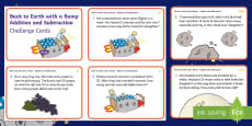 * NEW * KS1 Back to Earth with a Bump Addition and Subtraction Maths Challenge Cards