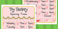 Australia - Toy Factory Opening Times