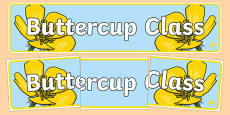 Buttercup Themed Classroom Display Banner
