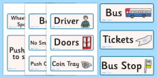 Bus Role Play Labels