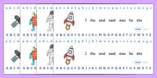 Alphabet Strips (Space)