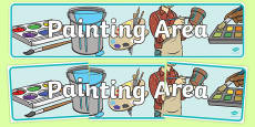 Painting Area Display Banner