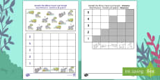 Ronald the Rhino Count and Graph Activity Sheet English/Romanian
