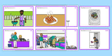 Home Chores Sequencing Cards Differentiated