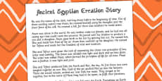 Ancient Egyptian Creation Story Print Out