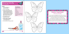 Balancing Butterfly Science Experiment and Prompt Card Pack