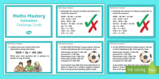 Year 6 Calculation Estimation Maths Mastery Activities Challenge Cards