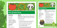 KS2 St Patrick's Day Pot of Gold Pizza Recipe