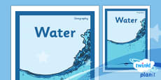 Geography: Water Year 4 Unit Book Cover