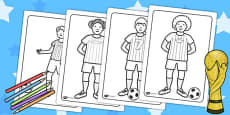 Football World Cup Football Players Colouring Pages
