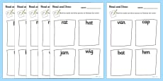 Read and Draw CVC Activity Sheets