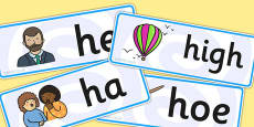 Initial h Sound Word Cards