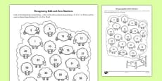 Recognising Odd and Even Numbers Activity Sheet