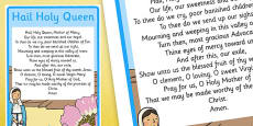 Hail Holy Queen A4 Display Poster