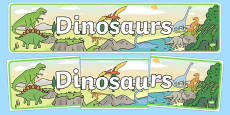 Dinosaurs Display Banner