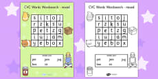 CVC Wordsearch Mixed