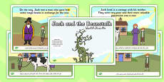 Jack and the Beanstalk Story Arabic Translation