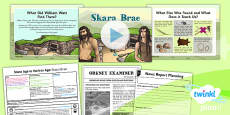 History: Stone Age to the Iron Age: Skara Brae UKS2 Lesson Pack 2