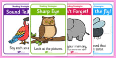 Guided Reading Strategy Display Posters
