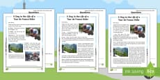 KS1 A Day in the Life of a Tour de France Rider Differentiated Reading Comprehension Activity