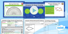 PlanIt Y6 Properties of Shapes Lesson Pack 2D Shape Drawing (2)