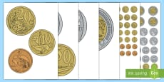 * NEW * South Africa Money/Currency Cut-Outs