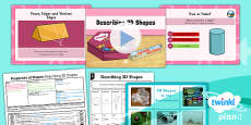 PlanIt Y3 Properties of Shapes Lesson Pack Shapes (2)