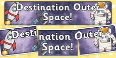 Destination Outer Space Topic Display Banner