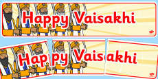 Happy Vaisakhi Display Banner