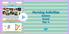 Year 4 Early Morning Science Activities Sound