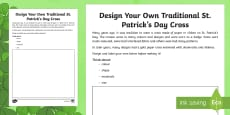 Design Your Own Traditional St. Patrick's Day Cross Read and Draw Activity Sheet