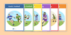 Official Games of the GAA Display Posters and Colouring Sheets
