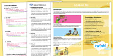 PlanIt - French Year 3 - All About Me CfE Overview