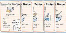 How to Make Pancakes Recipe Sheets
