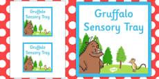 Gruffalo Themed Sensory Deep Tray Label