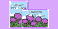 Welcome to Thistle Class Display Posters