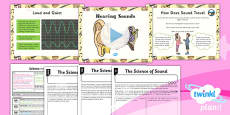 Science: Sound: Hearing Sounds Year 4 Lesson Pack 2