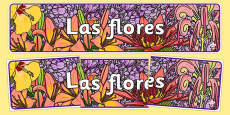 Flowers Display Banner Spanish