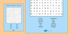 Months of the Year Wordsearch Cymraeg