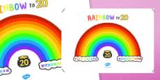 Rainbow To Twenty Display Poster
